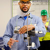 Don Knight   The Herald Bulletin<br /> Vincent Repscher talks about some of the routine maintenance he is learning to do as part of Nestlé's Project Opportunity apprenticeship program. Nestlé and Ivy Tech partnered to create the program that trains employees to fill future vacancies.