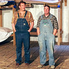 "Mark Maynard | for The Herald Bulletin<br /> Lennie (Daniel Clymer) and George (Andrew Persinger) talk about the farm they want to buy in Anderson's Mainstage Theatre's production of ""Of Mice and Men."""