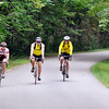 John P. Cleary | The Herald Bulletin<br /> These bikers ride along High Banks Road in Delaware County as they take a 25 mile ride Saturday as part of the Hoosier Environmental Council's 2nd annual Ride for the Mounds bike ride.