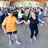 John P. Cleary | The Herald Bulletin<br /> Paul and Joanne Collis, of Anderson, dance to the music being played during the annual Madison County Solidarity Labor Council Labor Day picnic at Beulah Park in Alexandria Monday.