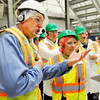 Don Knight | The Herald Bulletin<br /> Factory Engineering Manager Jeff Buck, left, leads Sen. Joe Donnelly and Ivy Tech President Sue Ellsperman on a tour as part of a roundtable on Nestlé's Project Opportunity apprenticeship program.