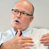 John P. Cleary | The Herald Bulletin<br /> John Gregg, Democrat candidate for governor, talks environmental policy with CNHI.