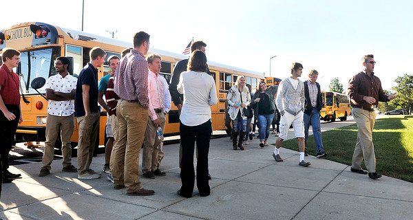 John P. Cleary | The Herald Bulletin<br /> Students from seven high schools came to Lawrence North High School Tuesday morning for the first gubernatorial debate.