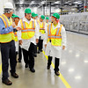 Don Knight   The Herald Bulletin<br /> Factory Engineering Manager Jeff Buck, left, leads Sen. Joe Donnelly and Ivy Tech President Sue Ellsperman on a tour as part of a roundtable on Nestlé's Project Opportunity apprenticeship program.