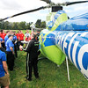 John P. Cleary | The Herald Bulletin<br /> Stat Flight medical helicopter landed at AHS's D26 Career Center Monday for a close-up visit with EMT, Fire/Rescue, and Health Science students.