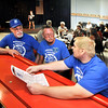 John P. Cleary | The Herald Bulletin <br /> Jack Kimmerling, Rodney Toombs, and Curtis Ploughman, officers of Anderson Eagles Lodge, discuss the upcoming music festival and bike ride they are planning as members enjoy karaoke.