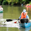 Don Knight | The Herald Bulletin<br /> Volunteers remove garbage from the White River during the White River Watchers annual fall river clean up on Saturday. The clean-up started at Scatterfield and ended at Raible Avenue.