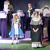 "Mark Maynard | for The Herald Bulletin<br /> Alice (Julia Beeler) is dismayed at the behavior of the Duchess (Jamie Conway) in ""Alice in Wonderland"" presented by Anderson's Mainstage Theatre."
