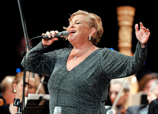 John P. Cleary |  The Herald Bulletin<br /> Anderson Symphony Orchestra's 50th anniversary season opener featured vocalist Sandi Patty.