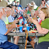 John P. Cleary |  The Herald Bulletin<br /> Michael and Linda Musgrave, of Alexandria, enjoy their food offered them Monday at the annual Solidarity Labor Council Labor Day Picnic at Beulah Park.<br /> Michael is a Delco retiree since 1999.