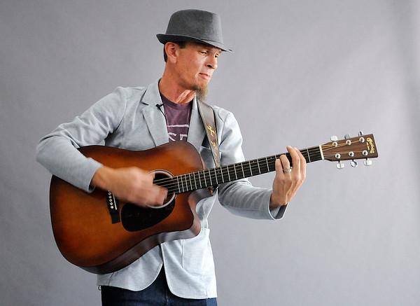 Don Knight | The Herald Bulletin<br /> Matt Cookman performs three songs in The Herald Bulletin studio on Wednesday.