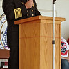 "Anderson Fire Department Chief Dave Cravens addresses the crowd supporting the men and women of public safety during the ""Honor the Badge"" event."