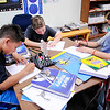 Don Knight | The Herald Bulletin<br /> From left, Anthony Peña, Jagger Sparks and Dorian Hamilton work on a social studies assignment at Daleville Elementary School on Tuesday.