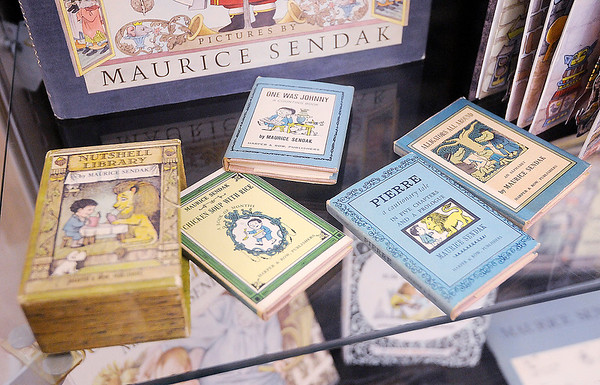Don Knight | The Herald Bulletin<br /> A nutshell library that includes four books by Maurice Sendak is part of a display about the author at the Nicholson Library. The library is home to the York Children's Literature Collection.