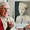 John P. Cleary |  The Herald Bulletin<br /> WWII Army veteran Virgil Stamm recently made the Indy Honor Flight to Washington D.C. Here talking about his trip and about the war.