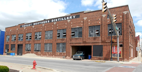 John P. Cleary |  The Herald Bulletin<br /> Exterior shots of the Oakley Brothers Distillery building at 8th & Jackson Streets in Anderson.