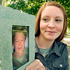 John P. Cleary |  The Herald Bulletin<br /> Kristina Schultz holds a photo of her grandmother, Alberta Hutton, who died in February of this year after being diagnosed with Alzheimer's disease about seven years ago.