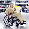 John P. Cleary |  The Herald Bulletin<br /> Mark Rowe checks out this finished wheelchair before it's cleared to be readied for shipping. Rowe is in charge of quality control for the Wheels for the World program at the Correctional Industrial Facility.