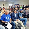 John P. Cleary |  The Herald Bulletin<br /> The Elwood Board of Works meeting was packed Monday for discussion on the Elwood Police Department.
