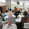 John P. Cleary |  50-Plus tab<br /> members of the Keenagers group listen to Wilbur DuBois as he speaks to them during their meeting at Grace Baptist Church.