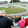 John P. Cleary |  The Herald Bulletin<br /> Indiana Governor Eric Holcomb attends Anderson Speedway's Night of Thrills Saturday evening.