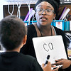 John P. Cleary | The Herald Bulletin<br /> First-year teacher Deborah Gardner works on reading words with her Edgewood Elementary School kindergarten students.