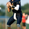 John P. Cleary | The Herald Bulletin<br /> Shenandoah's quarterback Peyton Starks drops back looking for his receiver.
