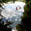 John P. Cleary | The Herald Bulletin<br /> These ladies decided the best way to beat the heat on a hot afternoon was to be out on the water in their kayaks floating around Shadyside Lake.