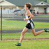 Don Knight | The Herald Bulletin<br /> Lapel's Luke Combs steps out to an early lead during the Madison County meet at Pendleton Heights on Tuesday.
