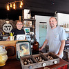John P. Cleary | The Herald Bulletin<br /> Mercantile 37 co-founders J R Roudebush and his son Nick Roudebush in the showroom filled with unique items that artists offer for sale. Mercantile 37 is located in the old Wheelers truck stop building at State Road 37 & 13.