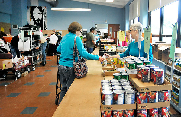 John P. Cleary | The Herald Bulletin<br /> The Park Place Community Center Food Pantry.