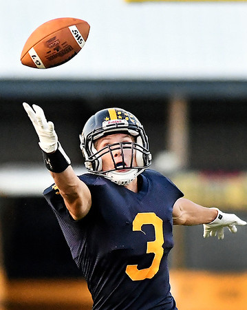 John P. Cleary | The Herald Bulletin<br /> Shenandoah's Gabe Young stretches out trying to catch the ball that was a little high.