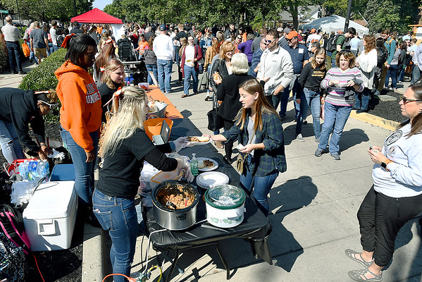 John P. Cleary | The Herald Bulletin<br /> University Blvd. was full of activity during Anderson University's Homecoming Street Fair Saturday.