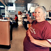 John P. Cleary   The Herald Bulletin<br /> Becky Watkins, owner of Little Red's Cafe & Bakery at 1023 Meridian Street, talks about how she came about this space in downtown Anderson to open her cafe and bakery.