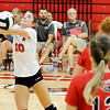 Don Knight | The Herald Bulletin<br /> Frankton's Rylee Barker passes the ball as the Eagles hosted Lapel on Wednesday.