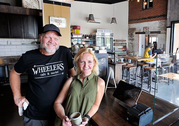 John P. Cleary | The Herald Bulletin<br /> Neal and Angie Fine are the operators of Wheelers cafe & market located in Mercantile 37 at State Road 37 & 13 in the old Wheelers truck stop building.