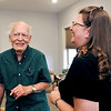 John P. Cleary | The Herald Bulletin<br /> Sam Matthews and Amber Longnaker share a laugh during a recent visit.