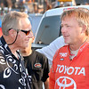 THB file photo<br /> Car owner Larry Contos talks with driver Brian Tyler before the start of the 2012 Little 500.