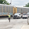 """A train was stopped on the railroad track between Brown Street and the Lemon Drop altering traffic in Anderson<br /> for more than an hour Wednesday morning. Because the downtown route is surrounded by side streets, traffic wasn't<br /> backed up. Chelsey Parnell, who was stopped on Jackson Street for more than 15 minutes on her lunch break, said, """"I<br /> just want McDonald's."""" The train started moving around 11:40 a.m."""