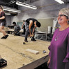 John P. Cleary | The Herald Bulletin<br /> Kelly Durr is principal/director at AHS District 26 Career Center watches students work in the building trades class.