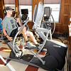 Don Knight | The Herald Bulletin<br /> Kayson Haywood works out in the cardio room at the YMCA.