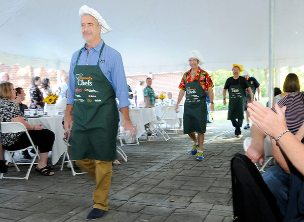 Don Knight | The Herald Bulletin<br /> Local attorney and Quack Daddy Donuts owner Bryan Williams is introduced during the sixth annual Community Chefs event hosted by Community Hospital Anderson.