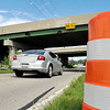 John P. Cleary | The Herald Bulletin<br /> Columbus Ave. under I 69 will be closed for seven months in early September to accommodate the addition of a third travel lane to the interstate above.