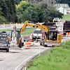 John P. Cleary | The Herald Bulletin<br /> Work continues by Walsh Construction/Reith Riley on the six miles of pavement maintenance along the stretch of I 69 north of the Scatterfield Road exit to the Daleville/Chesterfield exit.