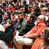 John P. Cleary | The Herald Bulletin<br /> Chad Lee, front right-center, sits with his Liberty Christian Criminal Justice class students as they listen to the oral arguments conducted in front of the <br /> Indiana Supreme Court held at Readon Auditorium this past Wednesday.