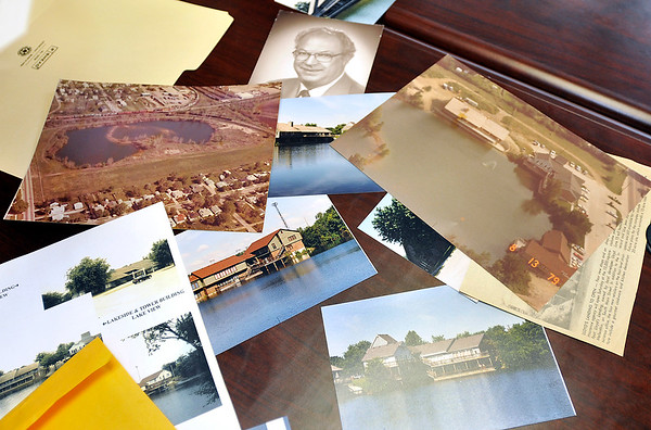 John P. Cleary | The Herald Bulletin<br /> New owners of the Landing Office Park, in the 3300 block of Main Street, have refurbished the facility. This is some of the old photos property manager Jim Roan has showing the property over the years.