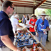 John P. Cleary | The Herald Bulletin<br /> The food line was steady at the Madison County Solidarity Labor Council's annual Labor Day picnic Monday at Beulah Park in Alexandria.