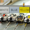 Don Knight | The Herald Bulletin<br /> Slot racing cars are lined up at the start at Purdue Polytechnic on Tuesday. You don't need your own car to join in the racing on every other Tuesday. Cars and controllers are provided.