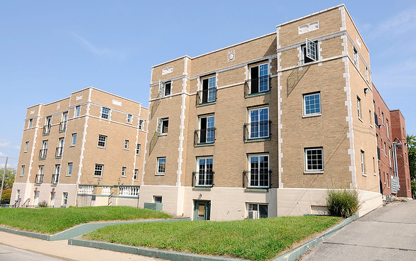 Don Knight | The Herald Bulletin<br /> Beverly Terrace Apartments was built in 1927. After renovations are complete there will be 32 one-bedroom and seven two-bedroom apartments that will rent for $600 to $700 per month.