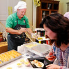 Don Knight | The Herald Bulletin<br /> ACS Superintendent Tim Smith serves Chicken and Noodle soup during the sixth annual Community Chefs on Saturday. For the second year in a row the event sold out its nearly 400 tickets.